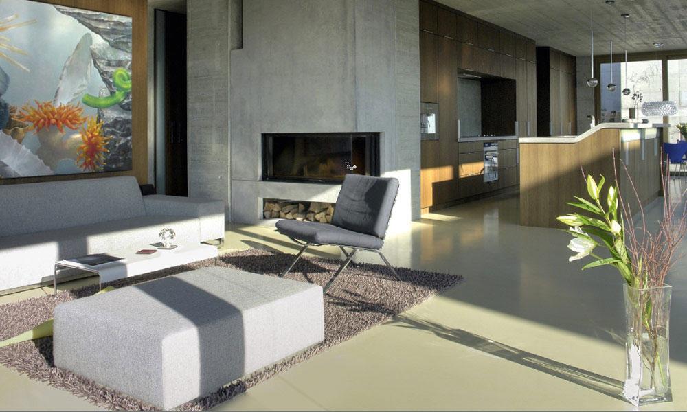 moderne woonbeton vloer